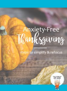 Anxiety Free Thanksgiving
